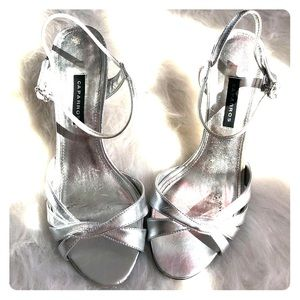 Silver Caparros Heels